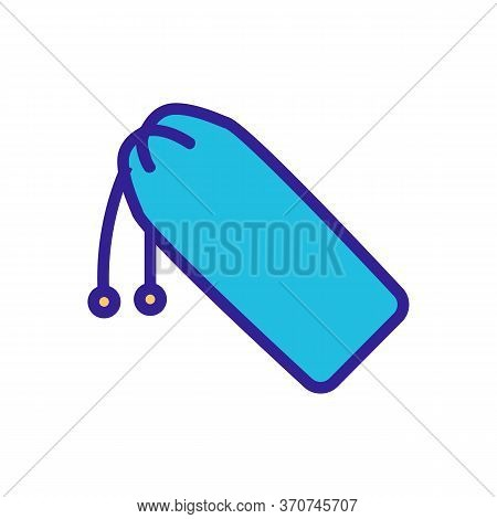 Chopstick Pouch Icon Vector. Chopstick Pouch Sign. Isolated Color Symbol Illustration