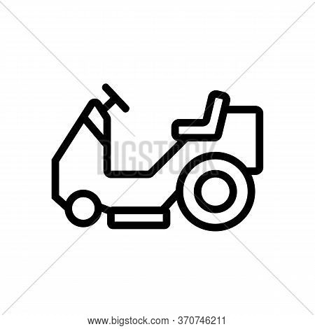 Wet Vacuum Cleaner Car Icon Vector. Wet Vacuum Cleaner Car Sign. Isolated Contour Symbol Illustratio