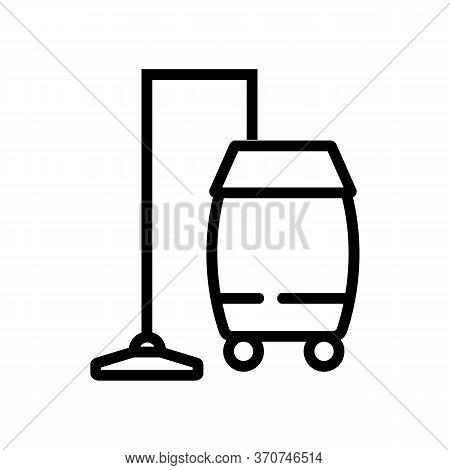 Wet Vacuum Cleaner Professional Clean Tool Icon Vector. Wet Vacuum Cleaner Professional Clean Tool S