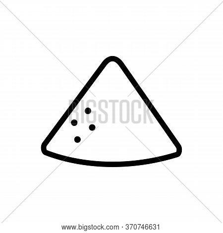 Vanilla Heap Icon Vector. Vanilla Heap Sign. Isolated Contour Symbol Illustration