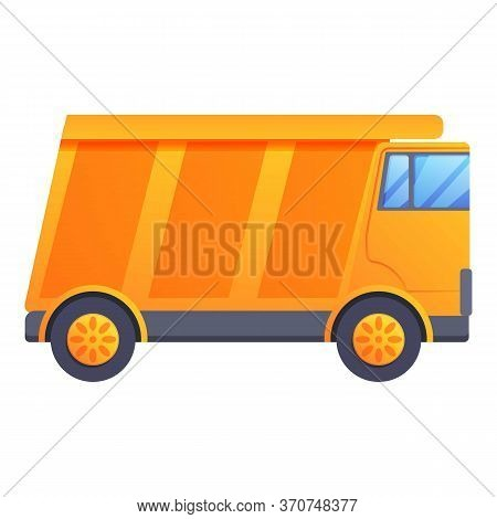 Tip Truck Icon. Cartoon Of Tip Truck Vector Icon For Web Design Isolated On White Background