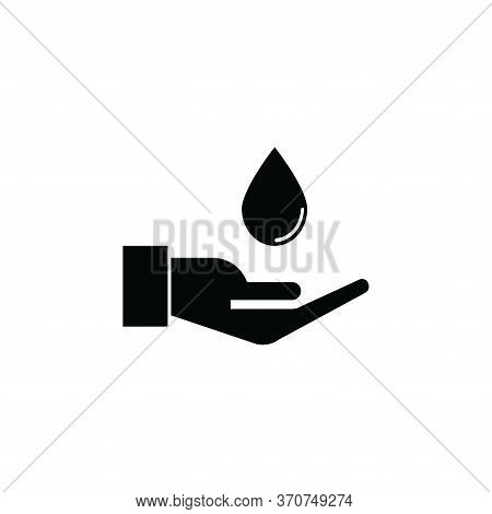 Water In Hand Icon Isolated On White Background. Water In Hand Icon In Trendy Design Style. Water In
