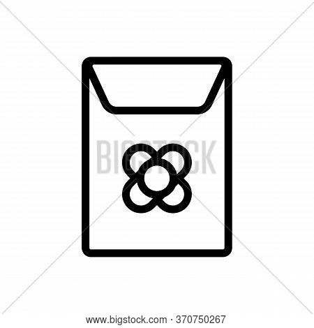 Canola Seeds In Paper Package Icon Vector. Canola Seeds In Paper Package Sign. Isolated Contour Symb