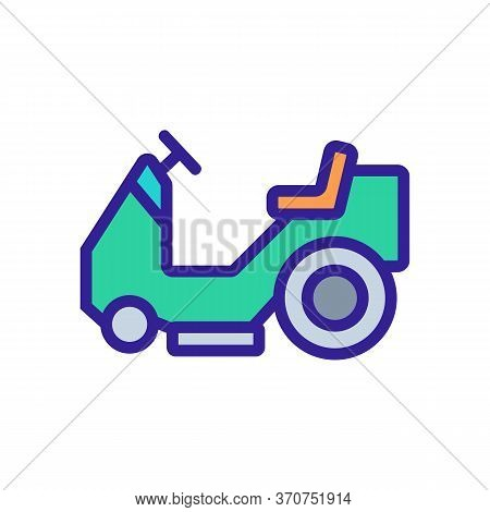 Wet Vacuum Cleaner Car Icon Vector. Wet Vacuum Cleaner Car Sign. Isolated Color Symbol Illustration