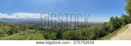 View Of The City Of Almaty From Kok-tobe Mountain, Kazakhstan