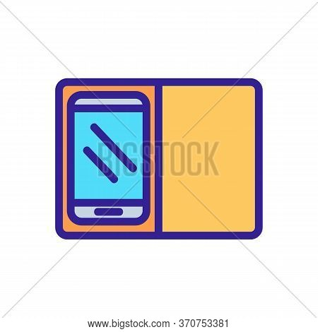 Flip Phone Case Icon Vector. Flip Phone Case Sign. Isolated Color Symbol Illustration