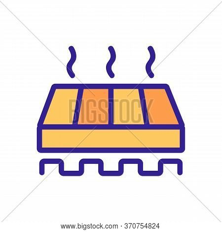 Domestic Warm Floor Tool Icon Vector. Domestic Warm Floor Tool Sign. Isolated Color Symbol Illustrat