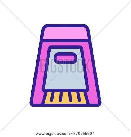 Dustpan And Brush For Purity Room Icon Vector. Dustpan And Brush For Purity Room Sign. Isolated Colo