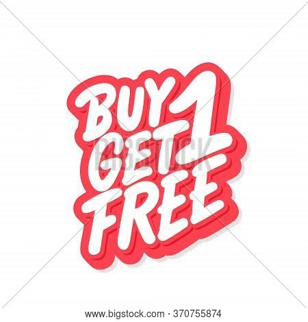 Buy One Get One Free. Vector Lettering Icon.