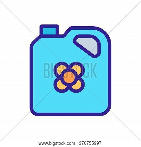 Canola Oil Canister Icon Vector. Canola Oil Canister Sign. Isolated Color Symbol Illustration