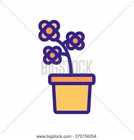 Blossom Canola Potting Icon Vector. Blossom Canola Potting Sign. Isolated Color Symbol Illustration