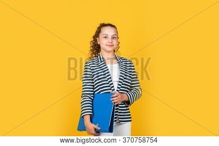 Looking So Confident. Imagine She Is Secretary. Small Business Owner. Back To School. Concept Of Edu