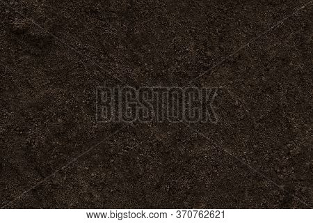 Soil Clear Ground Texture Background Pattern. Dirt Earth Brown.