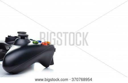 Video Game Gamepad Joystick On White Background Isolation