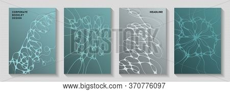 Cool Club Party Flyers. Fluid Curve Lines Plexus Textures. Stylish Notebook Vector Layouts. Night Pa