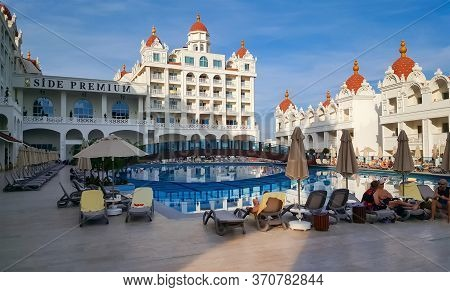 Colakli, Turkey - November 10, 2019: Oz Hotels Side Premium Resort With Aquapark And Pool In Colakli
