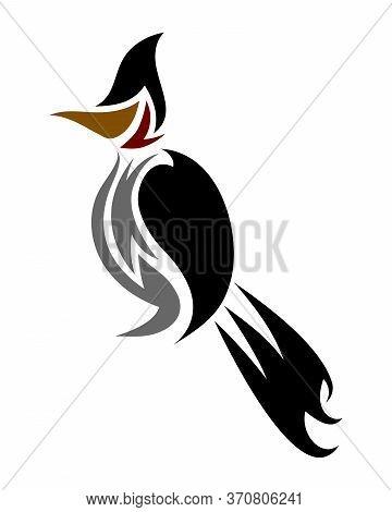 Vector Logo Of Red-whiskered Bulbul Bird Eps 10