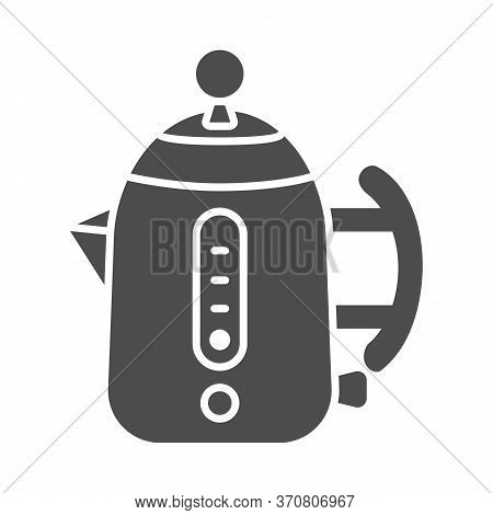 Modern Electric Teapot Solid Icon, Modern Kitchen Utensils Concept, Teakettle Sign On White Backgrou