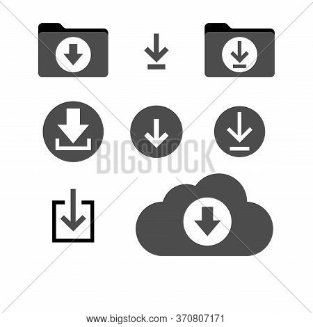 Download Icon Vector Isolated On White Background. Download Icon Simple Sign. Download Icon Image,do