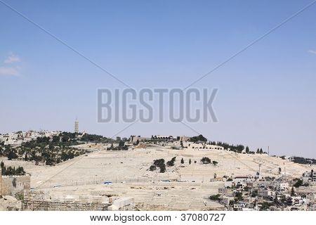 view of Mt. Olives Jerusalem, Israel