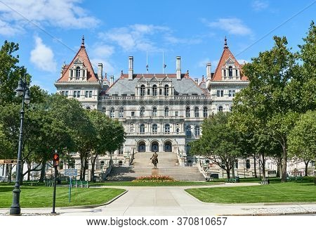 The New York State Capitol Building. The New York State Capitol Is The Seat Of The New York State Go