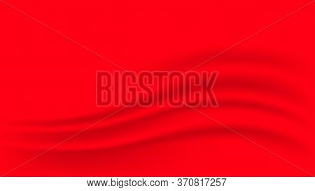 Red Fabric Cloth Smooth For Background, Wavy Fabric Cloth Red Color, Red Gradient And Wave Curve For