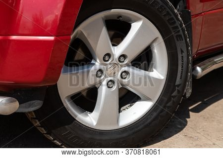 Novosibirsk/ Russia - May 02, 2020: Suzuki Grand Vitara, Close-up Of The Alloy Wheel. Photography Of