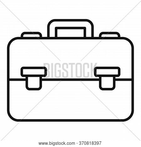 Finance Leather Bag Icon. Outline Finance Leather Bag Vector Icon For Web Design Isolated On White B