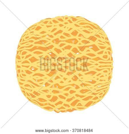 Instant Noodles Round Shape Isolated On White, Illustration Ramen Round Or Noodle For Clip Art, Inst