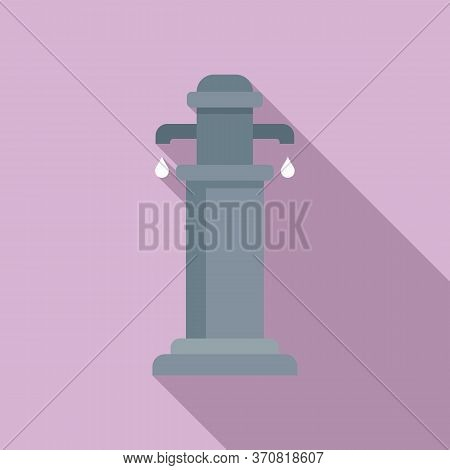 Water Pillar Icon. Flat Illustration Of Water Pillar Vector Icon For Web Design