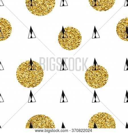 Minimalistic Doodle Background. Abstract Seamless Pattern For Covering, Textile, Other Design.