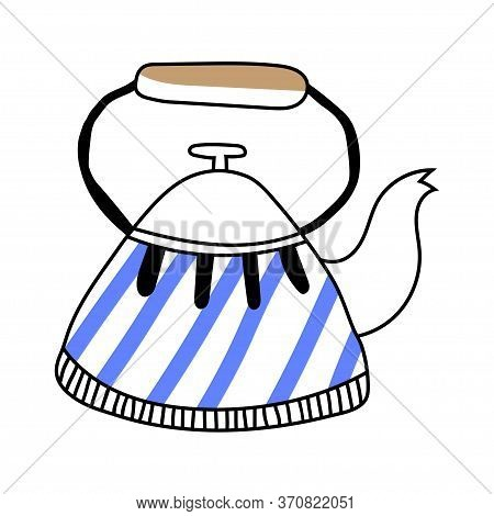 Kettle, Teapot. Illustration On A White Background. Item For Designs