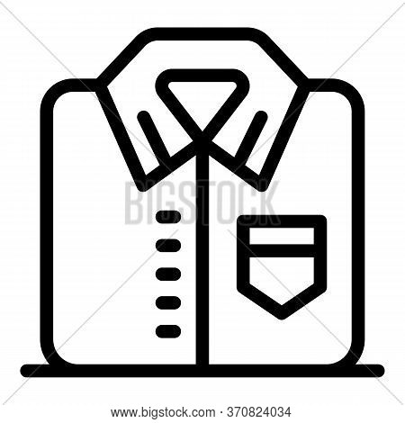 Formal Shirt Icon. Outline Formal Shirt Vector Icon For Web Design Isolated On White Background