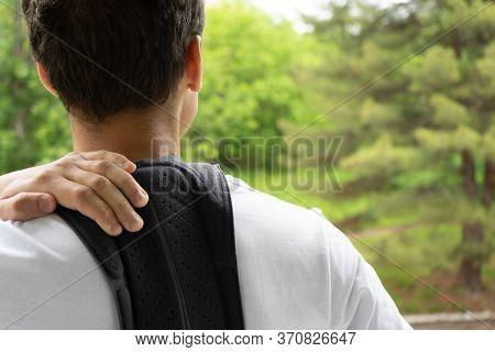 Back Brace, Lumbar Corset, Spine Pain Concept