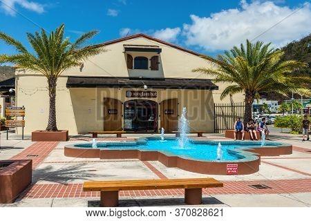 Charlotte Amalie, St.thomas, Usvi - April 30, 2019: Shopping Center At Charlotte Amalie, St Thomas,