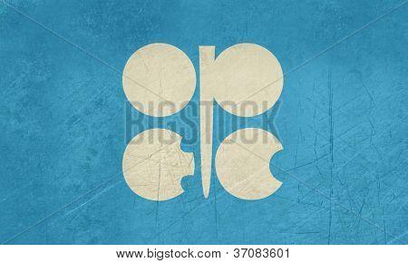 Grunge OPEC oder Oraganization der Erdöl exportierenden Länder Flagge.