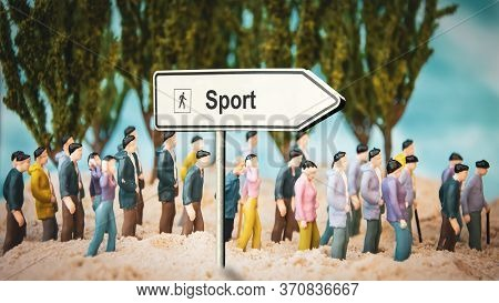 Street Sign The Direction Way To Sport