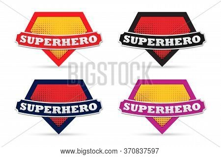 Mock Up Of Super Hero Sign. Set Of Superhero Logo Template. Collection Of Superhero Logo. Vector Log