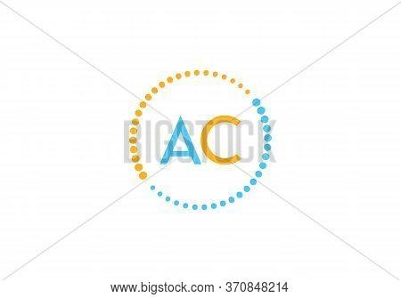 Spiral Ac Letter Logo Design. Round Logo Design. Creative Logo. Vector Abstract Circle Swirl Ac Lett