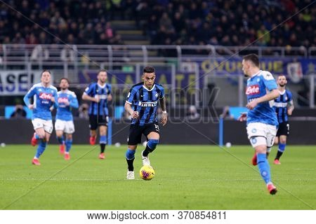 Milano, Italy.  12th February 2020 . Coppa Italia Semi-final First Leg . Fc Internazionale Vs Ssc Na