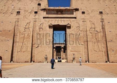 Edfu, Nile River / Egypt - 27 Feb 2017: Edfu Temple On The Nile River In Egypt