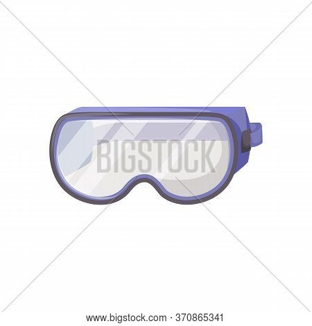 Protective Goggles Cartoon Vector Illustration. Eyewear, Spectacles, Personal Protective Equipment.