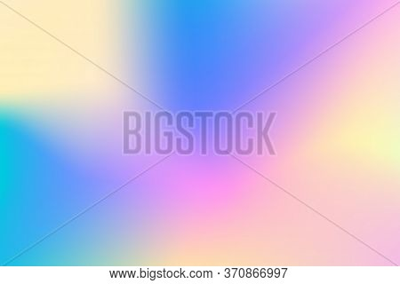 Blue Yellow Vector Gradient Background. Pastel Color Gradient Mesh. Soft Multicolored Backdrop For W