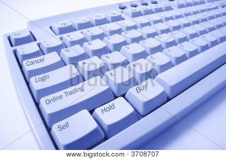 Close Up Of Computer Keyboard