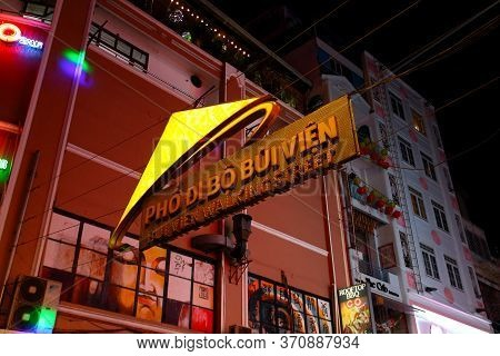 Ho Chi Minh City, Vietnam - March 27, 2019: A Welcome Sign Of Bui Vien Walking Street In Saigon City