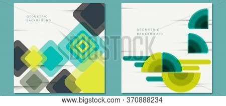 Abstract Background. Set of vector fantastic circle modern geometric backgrounds template, abstract illustration. Abstract Background.