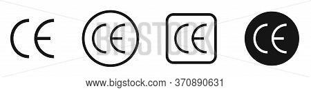 Ce Mark Vector Icon Set. Ce Symbol Collection.