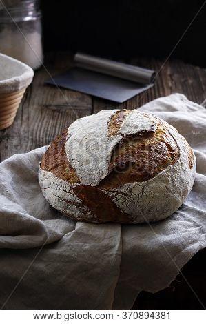 Sourdough bread with unbleach white wheat flour