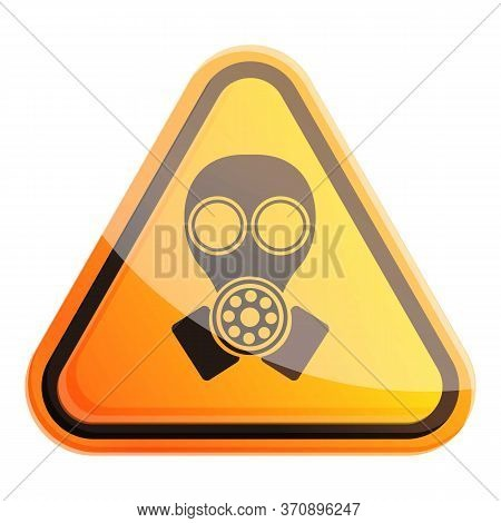 Sign Gas Mask Icon. Cartoon Of Sign Gas Mask Vector Icon For Web Design Isolated On White Background