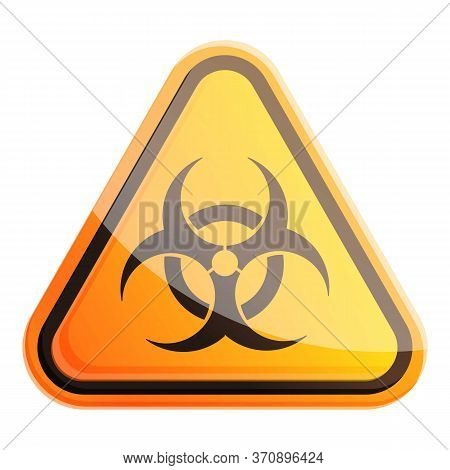 Biohazard Sign Icon. Cartoon Of Biohazard Sign Vector Icon For Web Design Isolated On White Backgrou